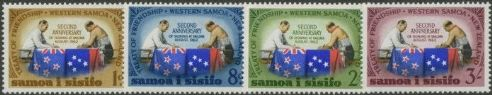 Samoa SG253-6 Second Anniversary of New Zealand-Samoa Treaty of Friendship set of 4